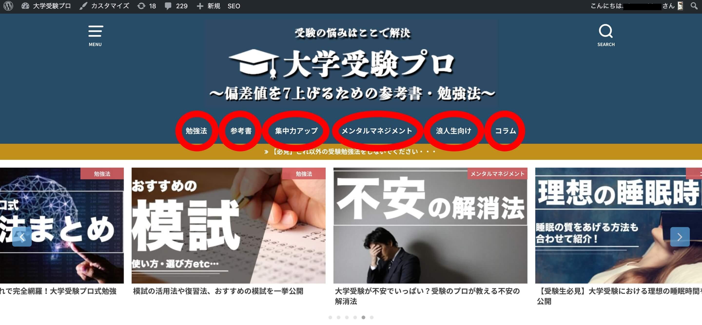 独自ドメイン・サブディレクトリ・サブドメインの違い『「大学受験プロ」のトップページ』
